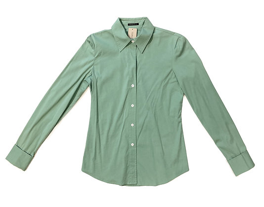 Theory Green Cotton Shirt