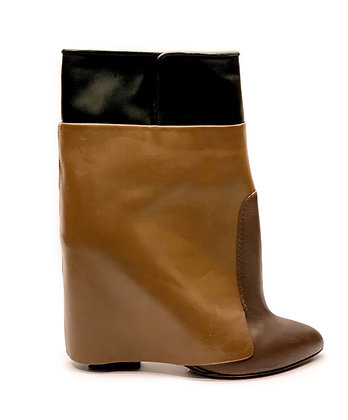 Givenchy Tricolor Wedge Ankle Boots