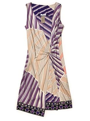 Emilio Pucci Multicolor Draped Dress