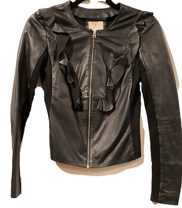 Pinko Leather Black Jacket