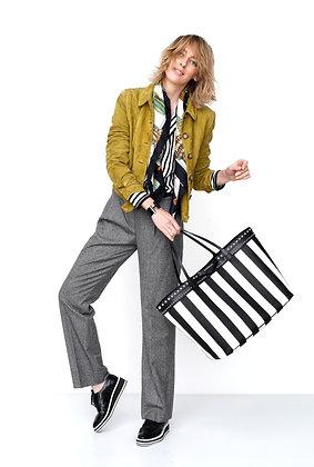 Givenchy Coated Canvas Striped Large Antigona Tote Bag