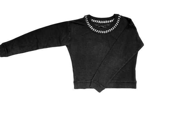 All Saints Ita Cropped Chain Sweatshirt