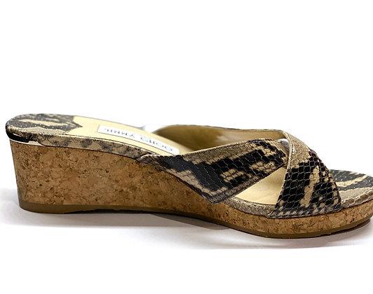 JIMMY CHOO Almer Phyton 50 Sandals