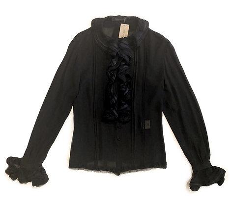 Ermanno Scervino Black Silk Blouse