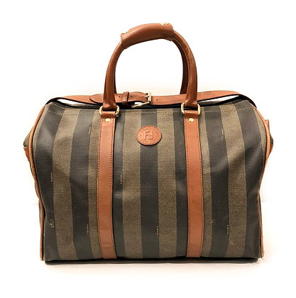 Fendi Pequin Stripe Vintage Travel Bag