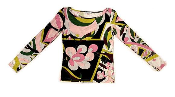 Emilio Pucci Multicolor Long Sleeve T-Shirt