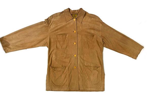 Fendi Vintage Suede Fringe Shirt