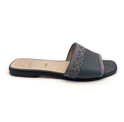 Christian Louboutin Grey Mules Slides