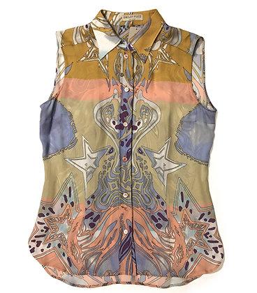 Emilio Pucci Multicolor Silk Sleeveless Blouse