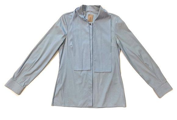 Gucci Light Blue Cotton Blouse