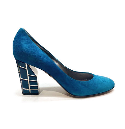 Casadei Blue Round-Toe Shoes