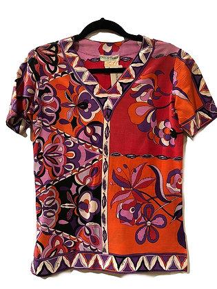 Emilio Pucci Vintage V-Neck T-Shirt