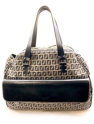 Fendi Blue Zucca Monogram Bag