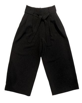Cos Black Wide Crop Pants