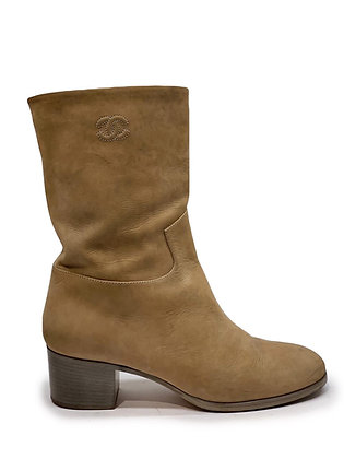 Chanel Suede Mid Calf Boots