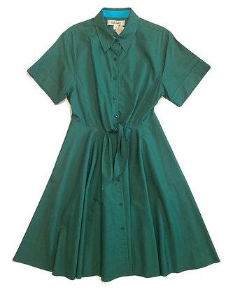 Diane Von Fustenberg Green Cotton Chemisier Dress