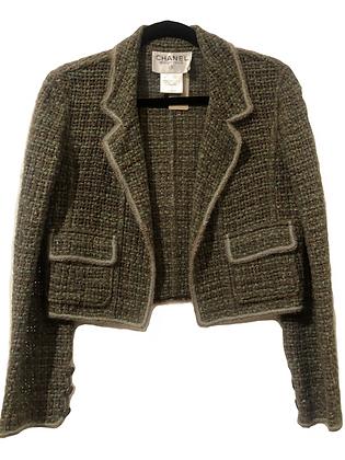 Chanel Tweed Green Blazer