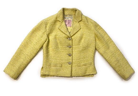 Chanel Yellow Tweed Blazer