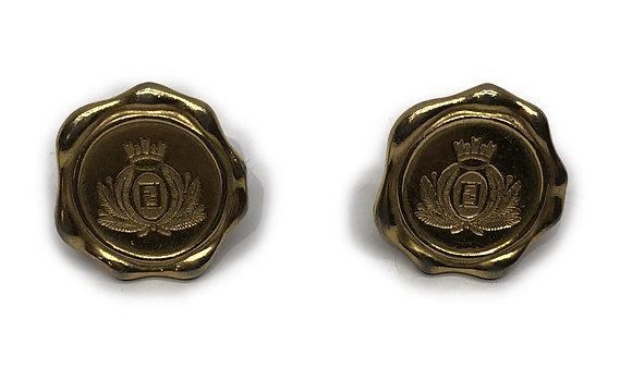 Fendi  Vintage Gold-Tone Earrings
