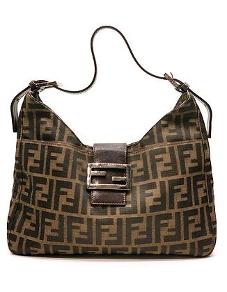 Fendi Vintage Zucca Monogram Shoulder Bag