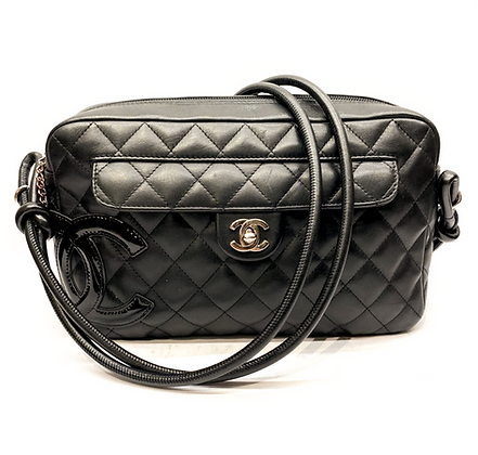 Chanel Black Quilted Leather Ligne Cambon Camera Shoulder Bag
