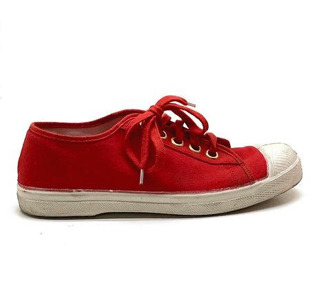Bensimon Red Canvas Sneakers