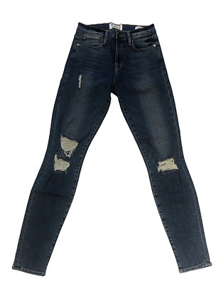 Frame  ¨Le High Skinny¨ Distressed Cropted Jeans