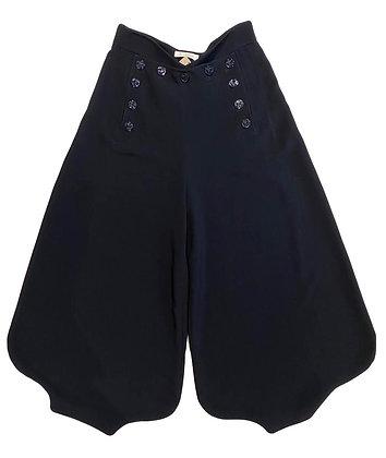Chloe Sailor Wide-Leg Crepe Pants