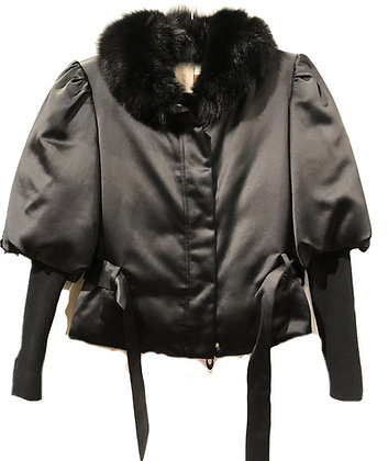 Emilio Pucci Satin and Fur Jacket