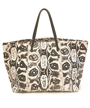 Fendu Faux Snake Leather Tote Bag