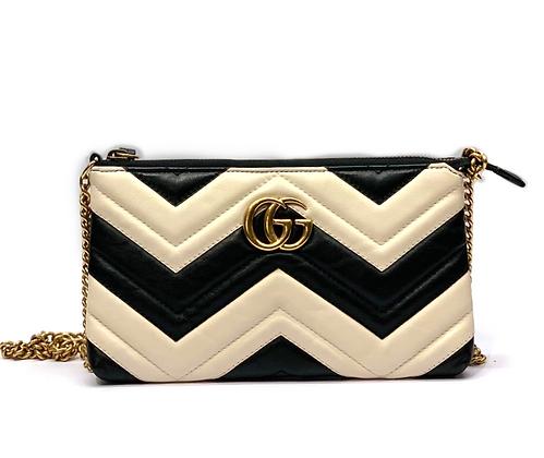 Gucci Calfskin Matelasse Mini GG Marmont Chain Bag