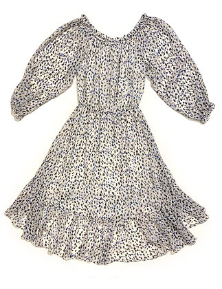 Diane Von Fustemberg Silk Dots Pleated Dress