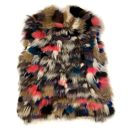 Fox Fur Colorful Vest