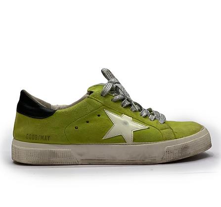 Golden Goose Green Suede Sneakers