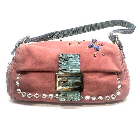 Fendi Baguette Embroidered Bag
