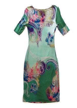 Etro Multicolor Draped Dress