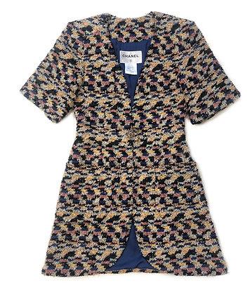 Chanel Tweed Dress Coat