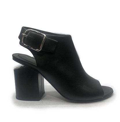 Alexander Wang Nadia Leather Open-Toe Booties