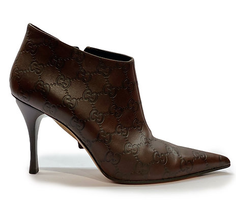 Gucci Monogram Boots Booties