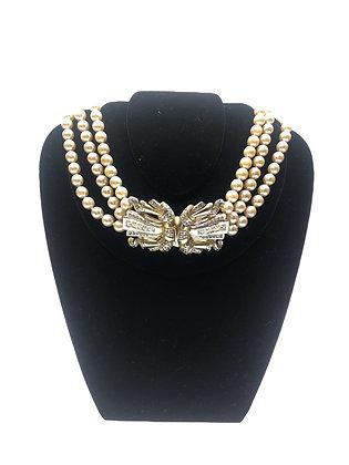 Antique Faux Pearls Necklace
