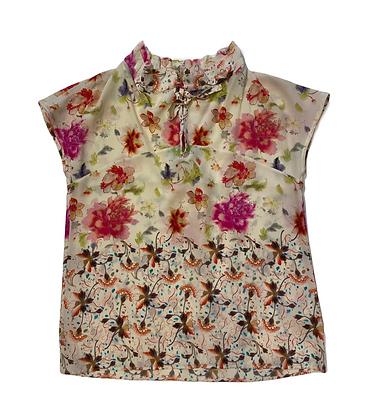 Etro Sleeveless Floral Silk Blouse
