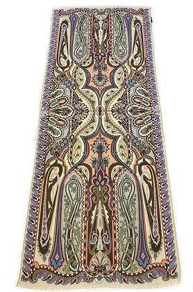 Etro Multicolor Wool & Silk Scarf