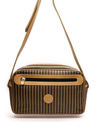 Fendi Vintage Pequin Stripe Crossbody Bag