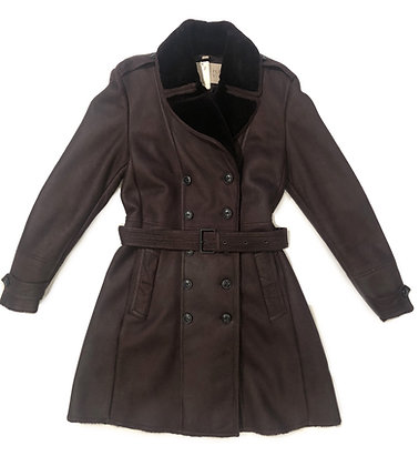 Burberry Leather Sheep Trench Coat