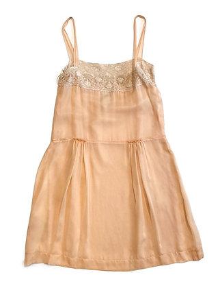 Alberta Ferretti Silk & Lace Dress