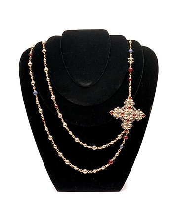 Chanel Bizantine Cross Necklase