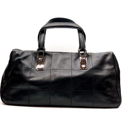 Chanel Square Stitch CC Boston Bag