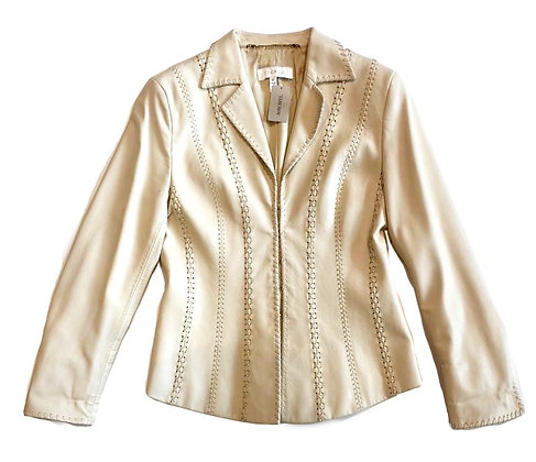 Escada White Leather Jacket