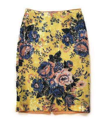 Diane Von Fustemberg Floral Sequins Skirt