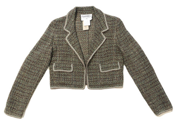Chanel Vintage Tweed Crop Blazer 1998 Autumn Collection